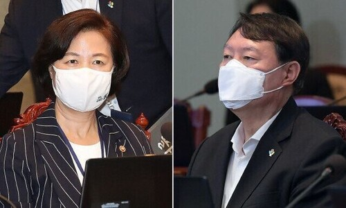 """'추-윤 동반퇴진' 물 건너가…곤혹스런 당·청 """"징계위 지켜보자"""""""