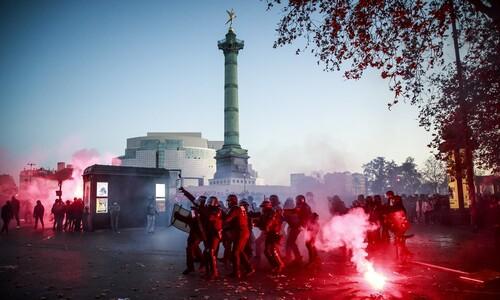 프랑스 시민들, '보안법' 강행에 저항 시위