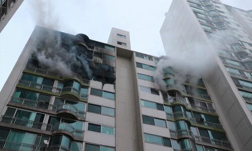 군포 아파트에 화재, 4명 숨지고 6명 다쳐