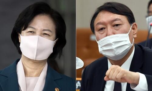"""윤 징계 강행 움직임에 국민의힘 """"문 대통령이 결자해지하라"""""""