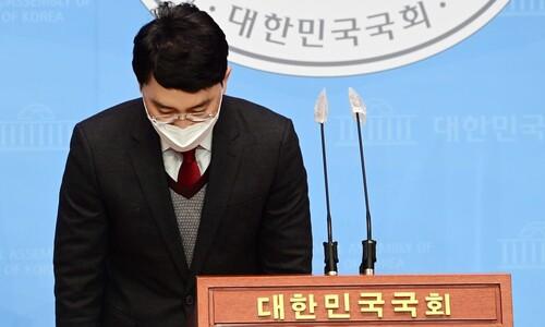 '개소리' 발언은 윤리특위 제소하면서…중대 의혹은 탈당으로 끝?