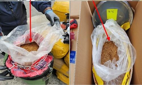 복싱용 샌드백에 밀수한 1.3톤 담뱃잎이 호주로 간 까닭은?