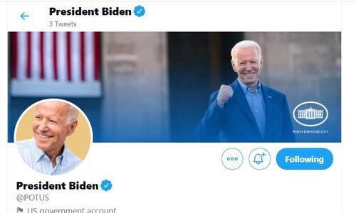 바이든, 취임날 대통령 '트위터 계정'도 인수…첫 트위트는?