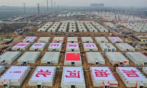 중국 건설 중인 코로나19 격리시설