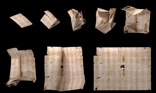 8겹 접어 봉인한 300년 전 편지…뜯지 않고 읽다