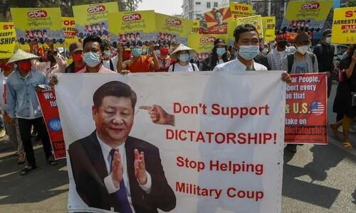 미얀마 시민들이 중국에 분노하는 이유