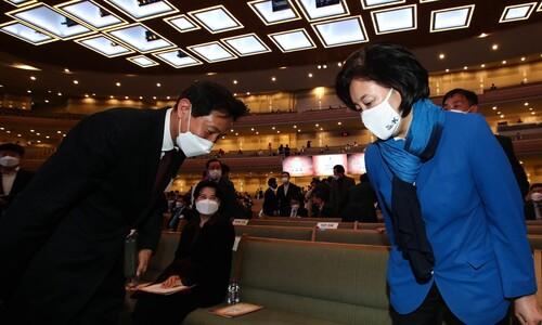 도로 불법 점유한 '사랑의 교회', 박영선·오세훈 왜 함께 달려갔나