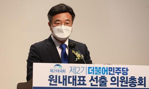 민주당 새 원내대표 윤호중 누구?…대야 '강경 기조' 전망