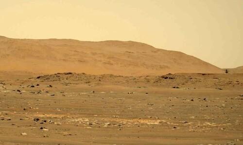 잡혔다, 대기 밀도 '지구 100분의 1' 화성 나는 헬기 소리