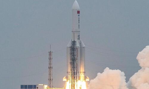 중 로켓 잔해 인도양 추락