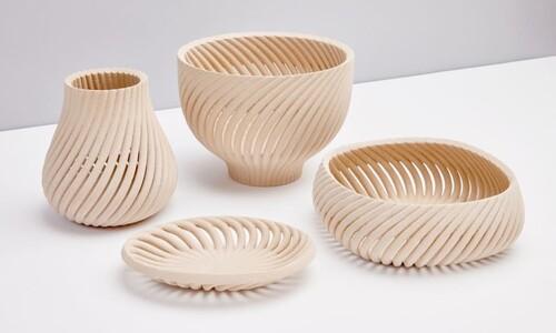 버려지는 톱밥, 나뭇결 살린 접시로…이 역시 '3D 프린팅'