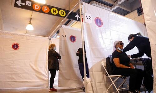 관광객도 백신 접종 가능한 뉴욕 지하철역