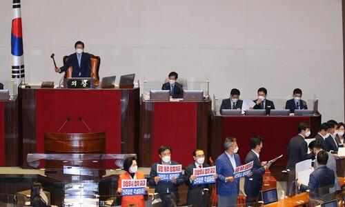 김부겸 총리 인준안, 야당 불참 속 본회의 통과