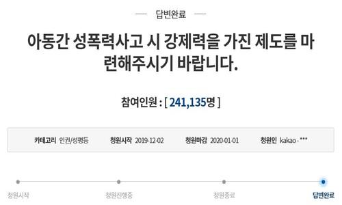 '성남 어린이집 아동간 성 사고' 내사 종결…결과는 비공개