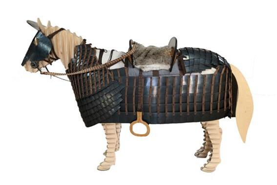 1600년 전 신라 무사 태웠던 전투마 갑옷 복원