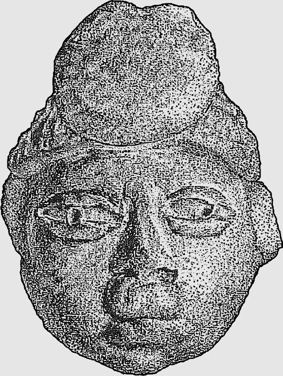 기원후 300년경 형성기 말엽 메소포타미아 초기 고등 문명에 존재했던 석두상, 멕시코. 글항아리 제공