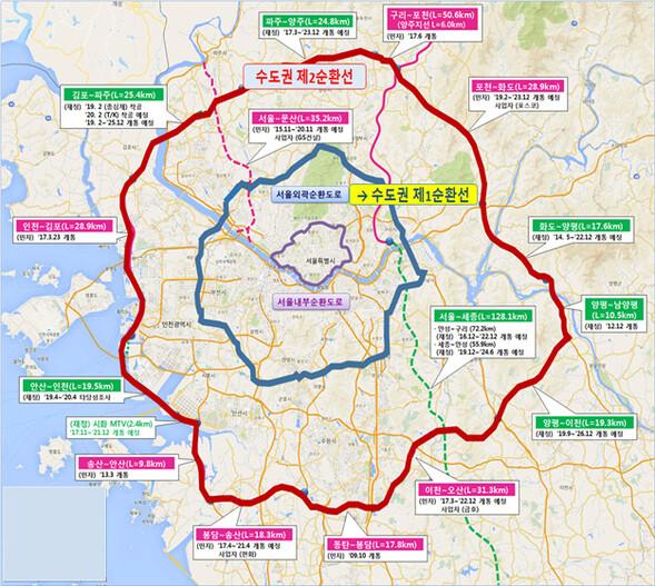 '서울외곽순환도로' 이름 역사 속으로