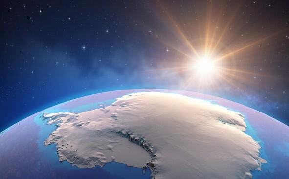 미국 항공우주국 위성이 촬영한 남극대륙 사진. 게티이미지뱅크