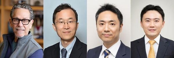 왼쪽부터 로날드 에반스 교수, 구본권 교수, 김진홍 교수, 유창훈 교수.