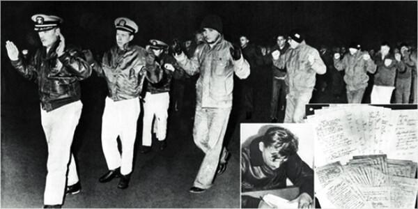 1968년 초 북한 원산 앞바다에서 나포된 미해군의 정보수집함 푸에블로호는 '북-미 군사 대치'의 상징이다. 그해 말 미해군 승조원 82명은 사과문을 쓰고 석방됐다. 사진 연합뉴스