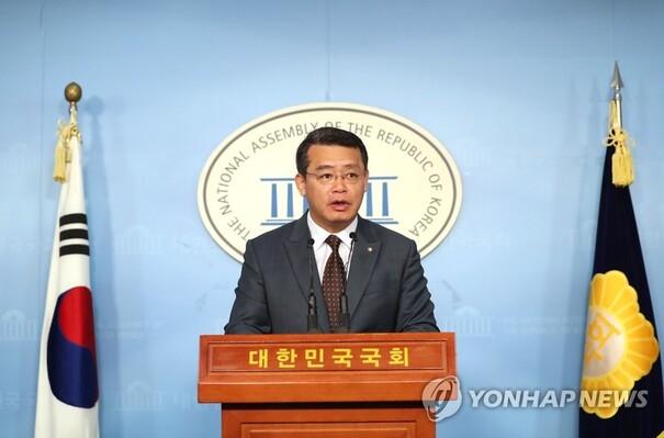 지난 6일 바른미래당 임재훈 의원이 여의도 국회에서 '유치원3법' 관련 발언을 하고 있다. 연합뉴스.
