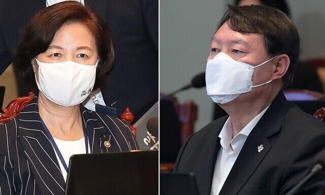 """추미애 """"장관 지시 불이행""""…윤석열 건의 즉각 거부"""