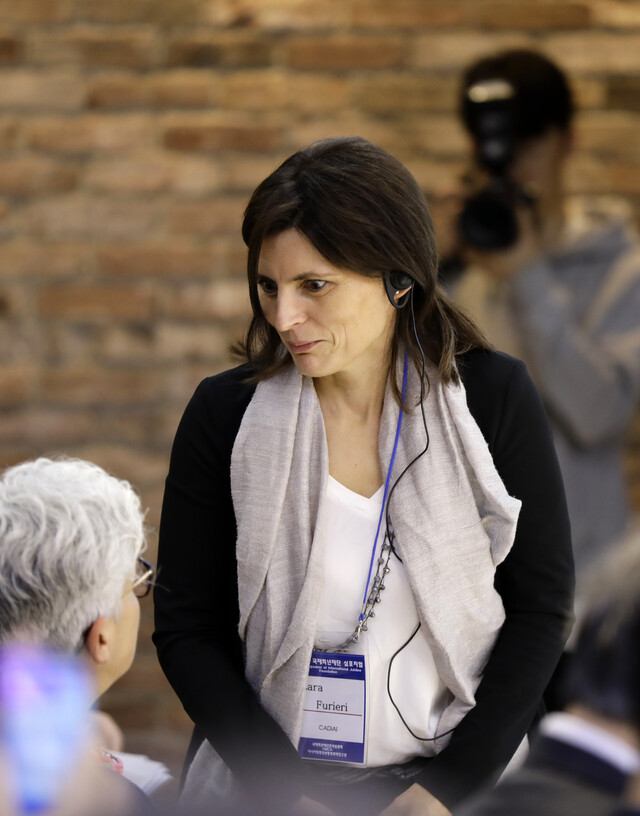 라라 퓨리에리(Lara Furieri) 카디아이 협동조합 국제 프로젝트 총 책임자. 김명진 기자 littleprince@hani.co.k