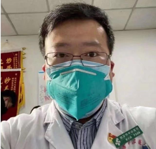 신종 코로나바이러스 감염증 확진 환자의 존재를 세상에 처음 알린 중국 우한시중심병원의 의사 리원량이 지난 6일 숨졌다. 리원량 웨이보 갈무리, 연합뉴스
