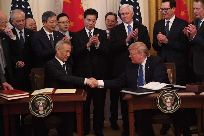 Trump says China will cooperate on N. Korea after signing phase one trade deal