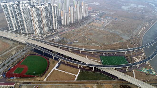 준공된 송도국제도시 '랜드마크시티 제1호 체육공원' 전경. 인천경제자유구역청 제공