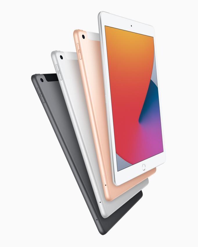 애플이 지난 15일(현지시간) 미국 캘리포니아 쿠퍼티노의 본사에서 온라인 신제품 발표 행사를 열고 출시 10주년을 맞은 아이패드의 중가형 모델인 아이패드 에어와 보급형인 아이패드 신작을 선보였다. 사진은 새로 출시될 8세대 아이패드. 애플 제공