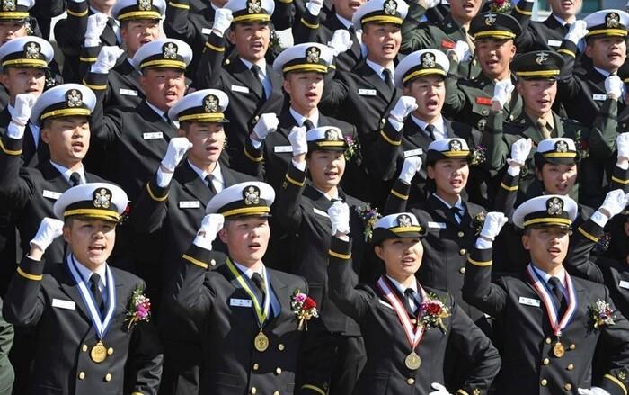 해군사관학교 졸업식. 해군 누리집