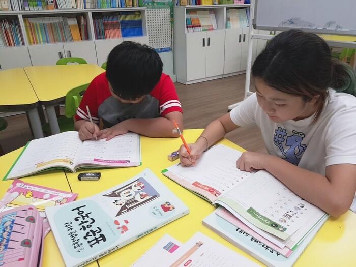 2019년 지동초 한국어 교실 수업 모습. 수원시 제공