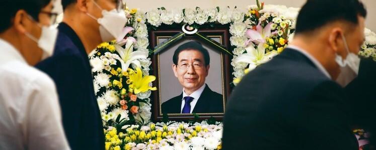 박원순 시장 빈소에 정치·종교인·시민 조문 행렬