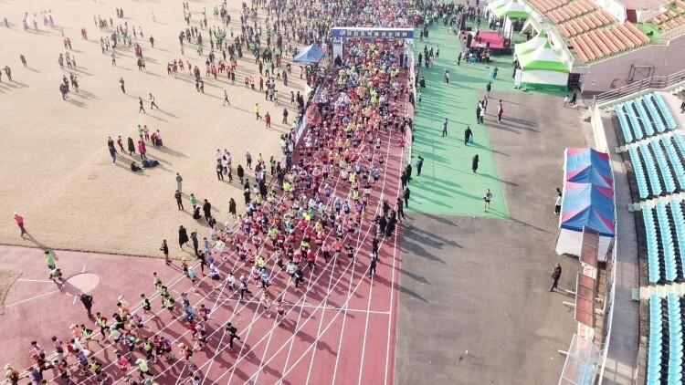 지난해 2월 열린 제125회 정읍 동학마라톤대회 장면.