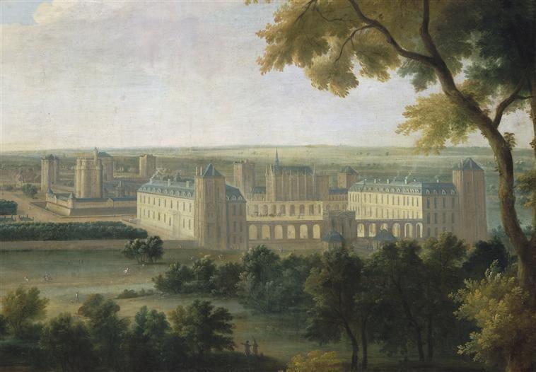 18세기 초 뱅센 숲과 뱅센성의 모습을 그린 프랑스 화가 장바티스트 마르탱의 그림. 1724년 작품. 위키피디아