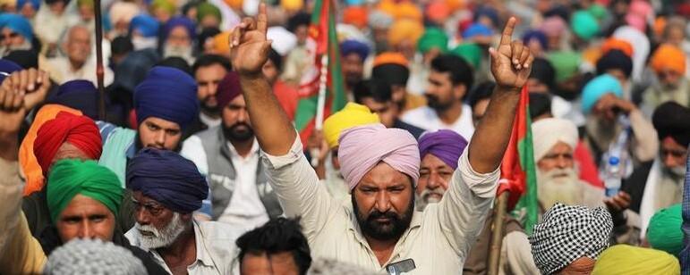 '인류 역사상 최대' 인도 농민시위, 석달째 왜?