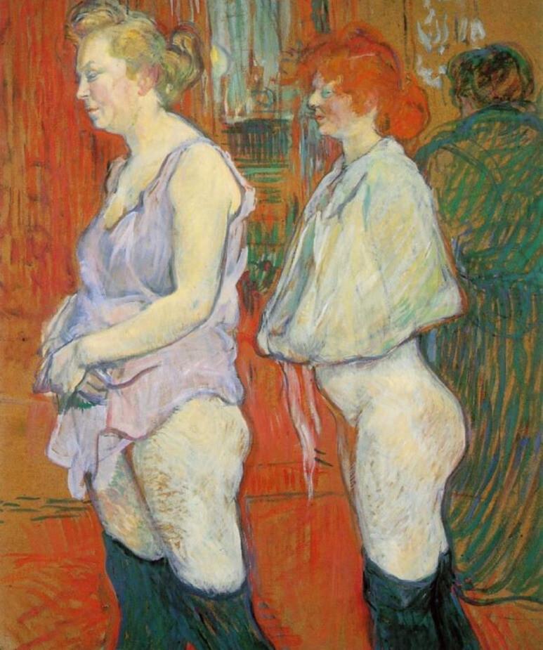 앙리 드 툴루즈로트레크, <의료 검진>, 1894년, 판지에 유채, 워싱턴국립미술관