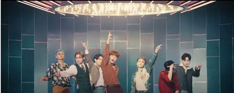 방탄소년단(BTS) '다이너마이트' 뮤직비디오. 유튜브 뮤직비디오 갈무리