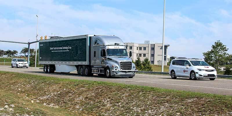미국 버지니아에서 시험운행중인 다임러 그룹의 자율주행트럭. 다임러그룹 제공