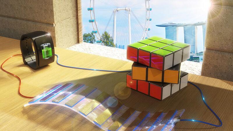 양달과 응달의 밝기 차이를 이용해 전기를 만드는 음양전지. 싱가포르국립대 제공