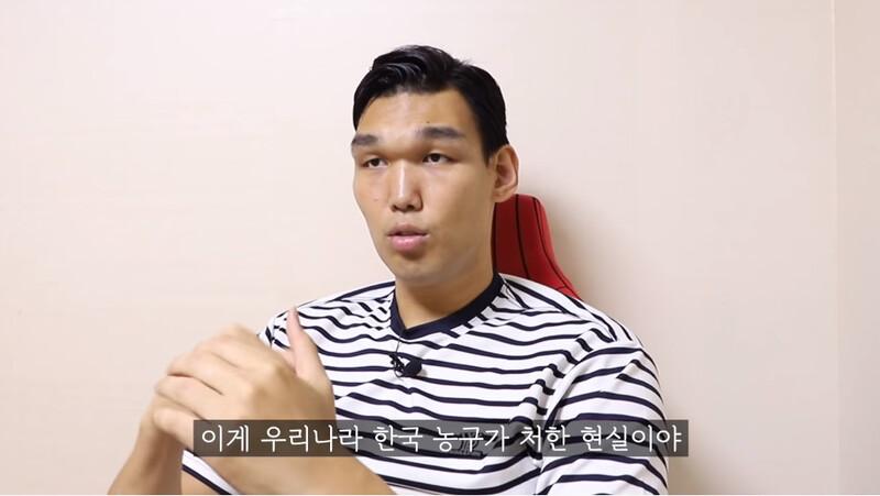 하승진이 올린 영상 '한국 농구가 망해가는 이유' 중 한 장면. 유튜브 <하승진 유튜브> 갈무리