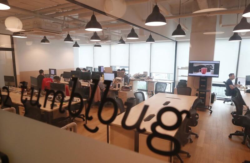 1일 오후 텀블벅 사무실 모습. 백소아 기자 thanks@hani.co.kr