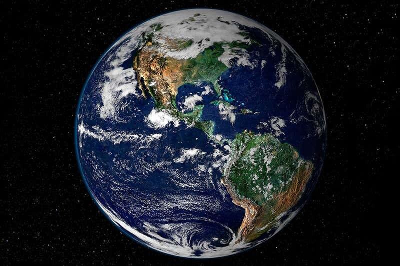 대기권에서 바라본 지구의 모습. 나사 제공