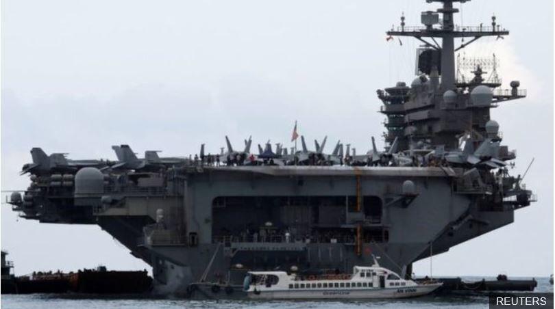 """미 핵항모의 SOS """"코로나 확산…전쟁도 아닌데 죽을 수 없어"""""""