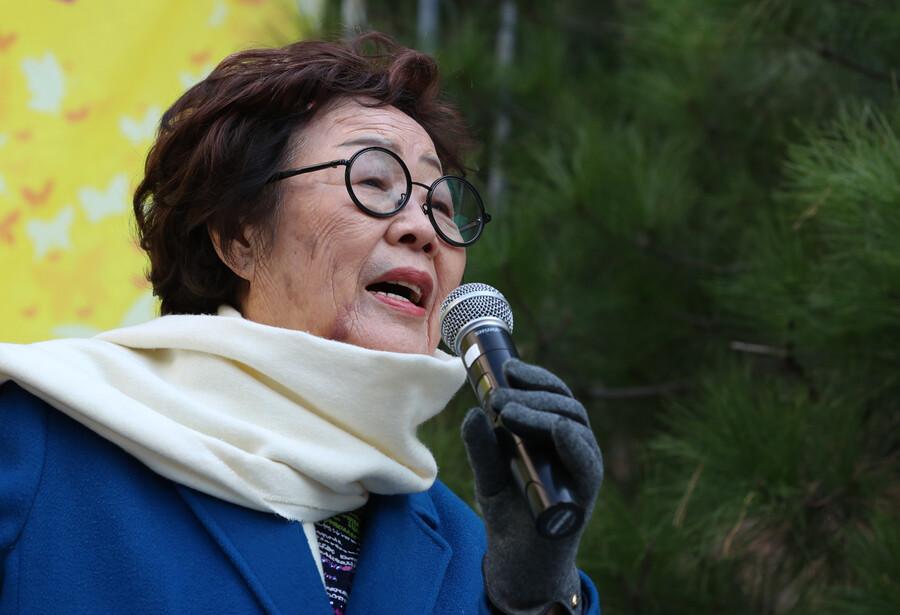 """이용수 할머니, 25일 2차 기자회견 """"정의연 정신은 계승…윤미향은 법에 따라"""""""