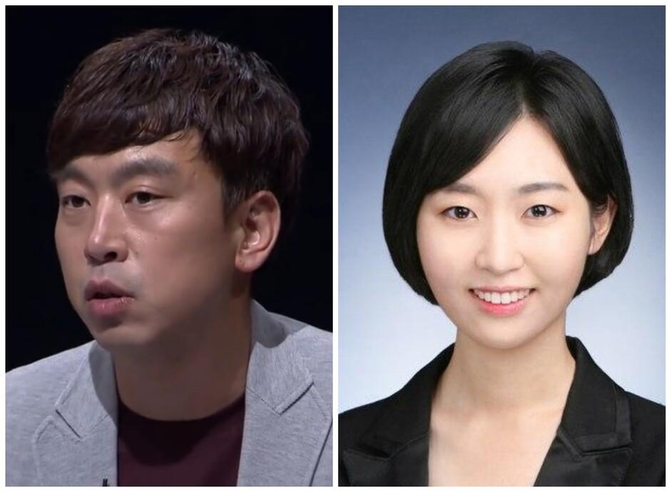 <한겨레> 사회부 사건팀 김완 기자(왼쪽)와 오연서 기자