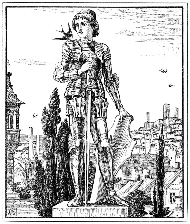 오스카 와일드가 1888년에 쓴 동화 <행복한 왕자>에 들어간 월터 크레인(Walter Crane)의 삽화.