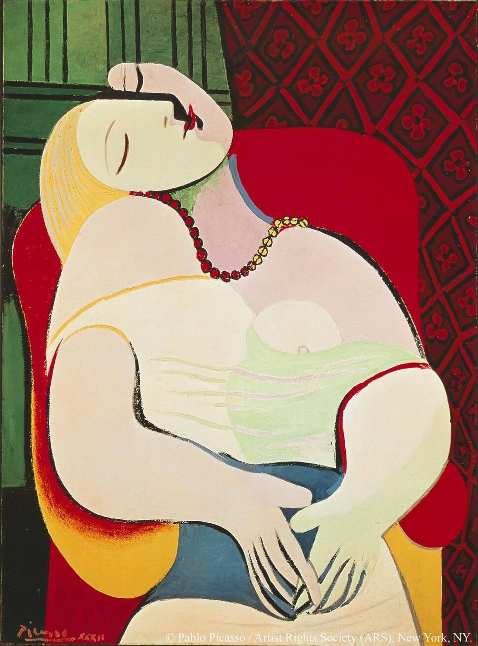 파블로 피카소, <꿈>, 1932년, 캔버스에 유채, 개인 소장