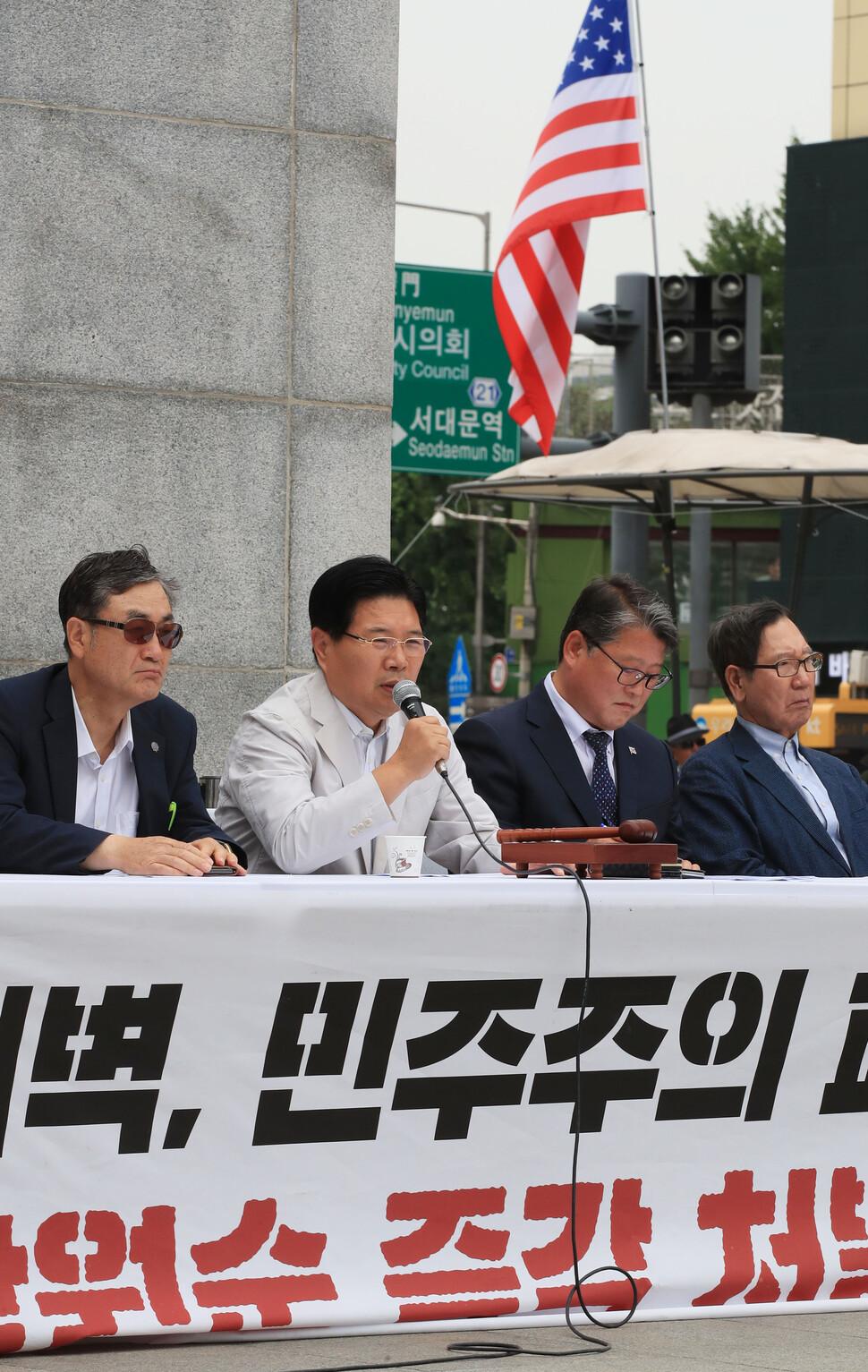 우리공화당 조원진·홍문종, 사실상 결별 수순
